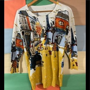 Cute All over Print Sweater size M
